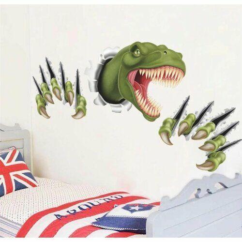 4-home Naklejka 3d dinozaur, zielony