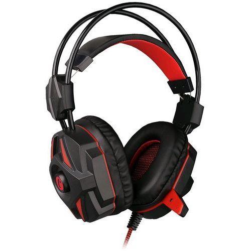 C-Tech słuchawki Kalypso (GHS-04R), czarno-czerwone - BEZPŁATNY ODBIÓR: WROCŁAW!