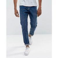 slim fit jeans in mid wash - blue, Bershka