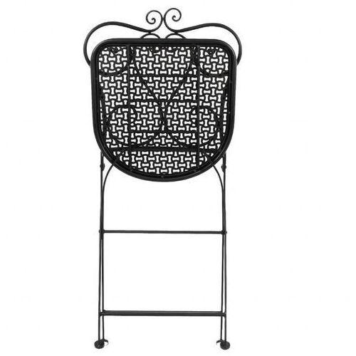 Krzesło składane klasyczne stalowe | czarne | 450mm | 2 szt. marki Bolero