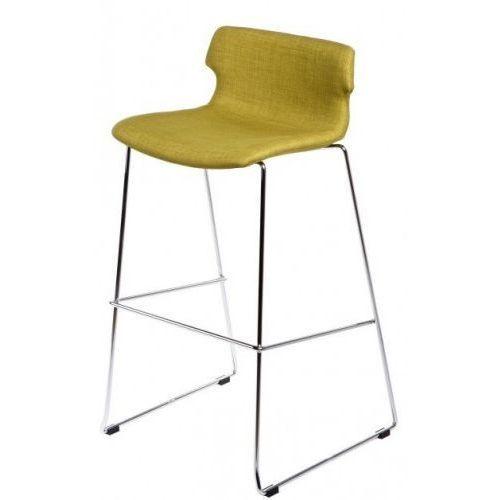 D2.design Stołek barowy techno tapicerowany - oliwkowy (5902385704250)