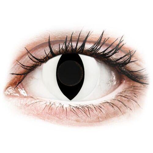 Crazy lens - cat eye white - jednodniowe zerówki (2 soczewki) marki Gelflex