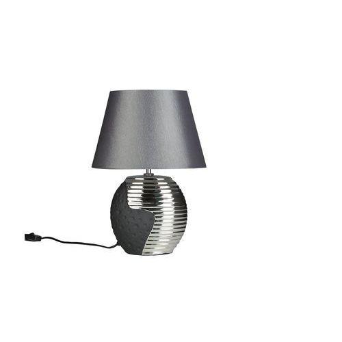 Beliani Lampka nocna czarna ze srebrnym esla
