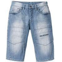 """Długie bermudy dżinsowe regular fit niebieski """"used, Bonprix"""