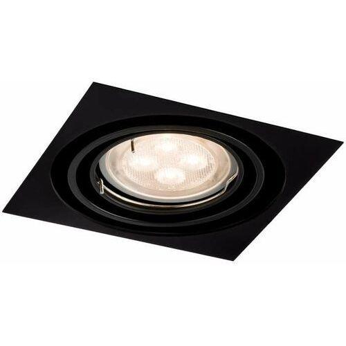 Oczko lampa sufitowa omura h 3342 podtynkowa oprawa regulowana wpust do zabudowy paco czarny marki Shilo