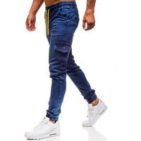 Spodnie jeansowe joggery męskie granatowe Denley Y261