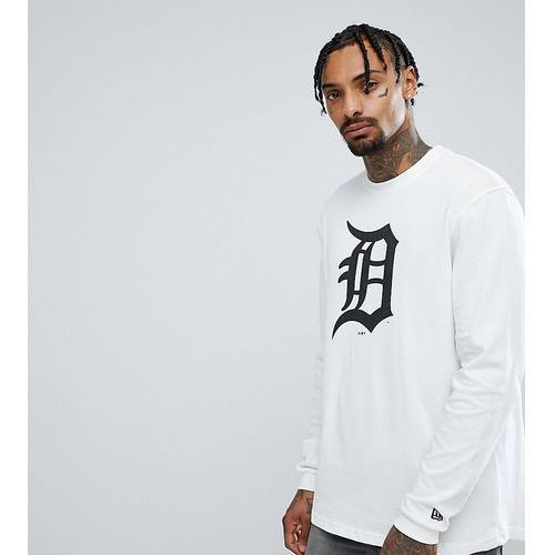 New Era Detroit Tigers Long Sleeve T-Shirt Exclusive To ASOS - White, kolor biały