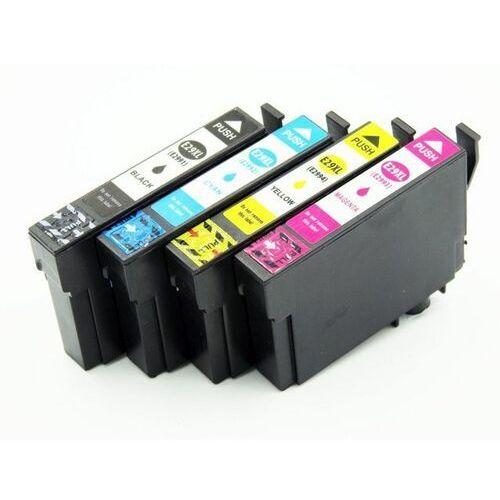 Zestaw tuszy EPSON 29XL (T2991 2 3 4 ) CMYK do Epson XP235 XP332 XP335 XP432 XP435 / 18,2ml + 14ml CMY / zamiennik / DD-Print, kolor Zestaw
