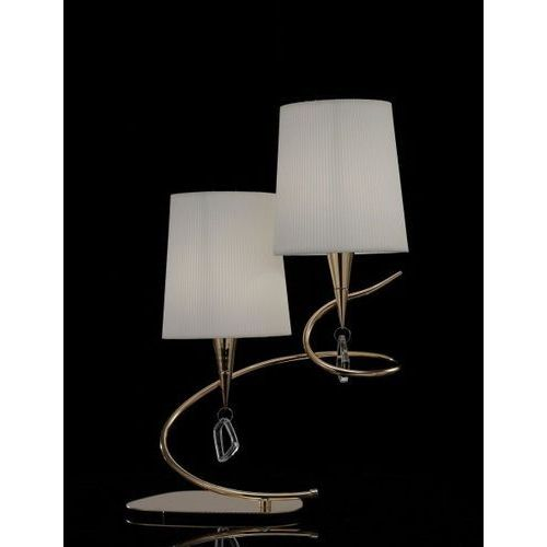 Mantra Lampa stołowa/biurkowa mara 2l antyczny mosiądz - kremowy klosz, 1631