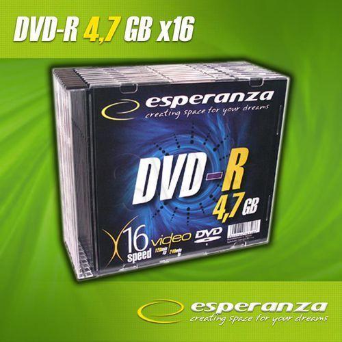 Esperanza Dvd-r 4.7gb 16xspeed (slim 10szt)- towar zamówiony do 17:00 wyślemy jeszcze dzisiaj!!! (5905784763279)