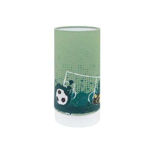 Eglo tabara 97763 lampka stołowa dziecięca 1x6w led zielona/biała (9002759977634)