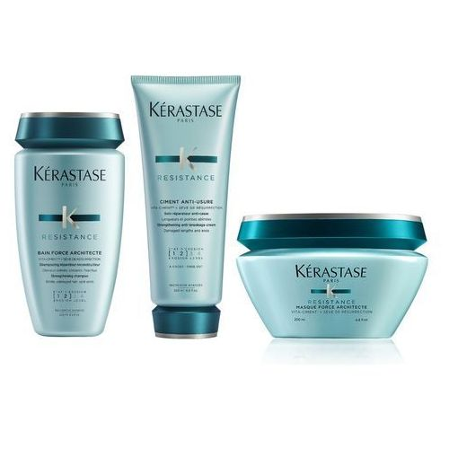 Kerastase Force Architecte Zestaw odbudowujący do włosów | kąpiel 250 ml + odżywka 200 ml + maska 200 ml
