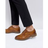 spencer leather derby shoes in tan - tan marki Base london