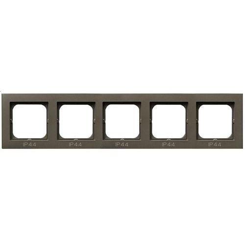 Ospel Ramka pięciokrotna sonata rh-5r/40 do łączników ip44 czekoladowy metalik (5907577449100)