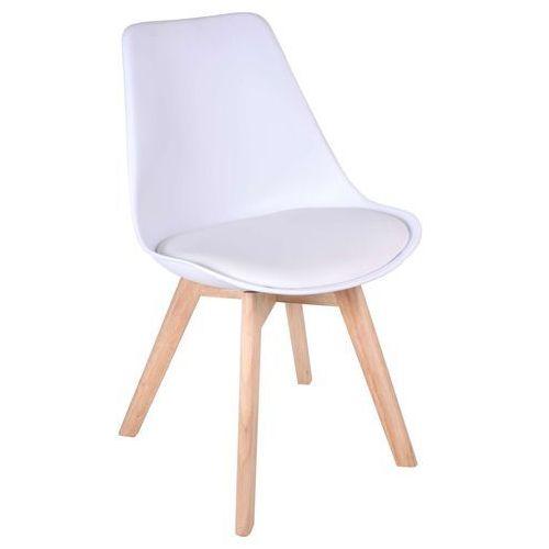 Krzesło Nantes Białe, kolor biały