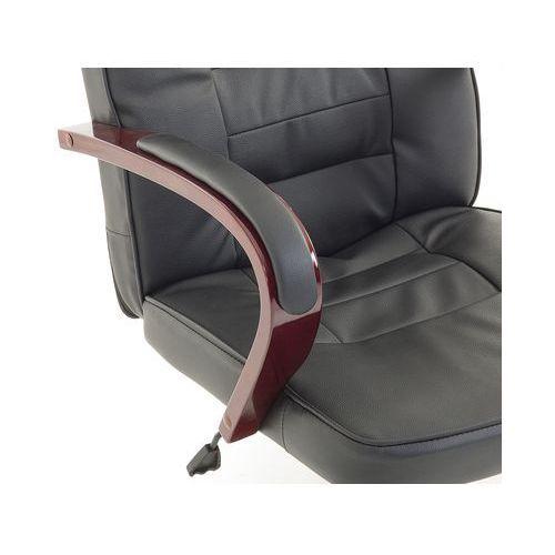 Krzesło biurowe czarne skóra ekologiczna funkcja masażu diamond marki Beliani