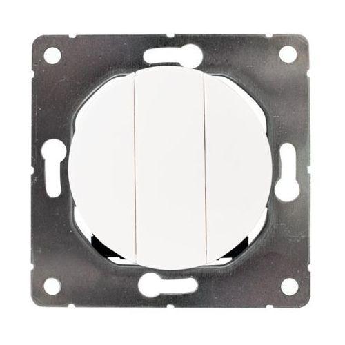 Dpm solid Włącznik potrójny soul biały (5903332580620)