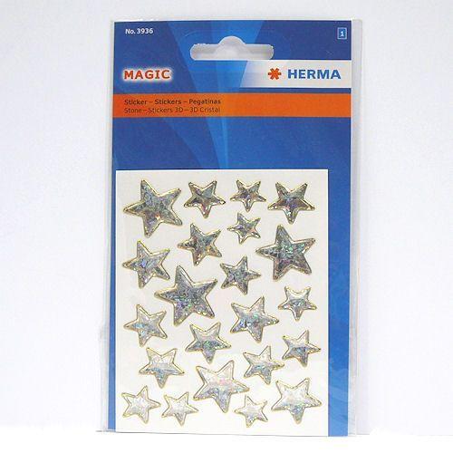 Naklejki  magic 3936 gwiazdki złote brokat marki Herma