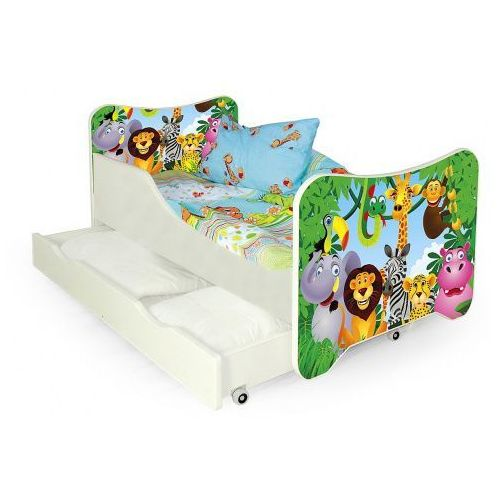 Bajkowe łóżko dziecięce junglis marki Producent: elior