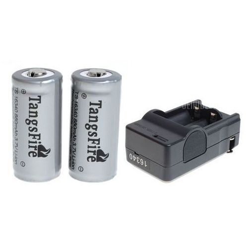 Tangsfire 16340 rechargeable battery 3.7v 880mah li - ion with protection board wyprodukowany przez Gearbest