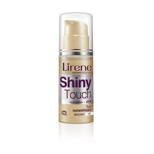 Lirene shiny touch rozświetlający podkład we fluidzie 16 godz. odcień 107 beige (hydrablock + spf 8) 30 ml (5900717060326)