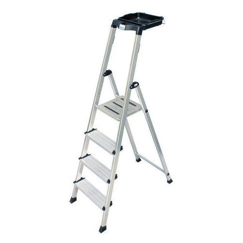 SECURY Drabina aluminiowa 4 stopnie KRAUSE 126528 - odbiór w 2000 punktach - Salony, Paczkomaty, Stacje Orlen (4009199126528)