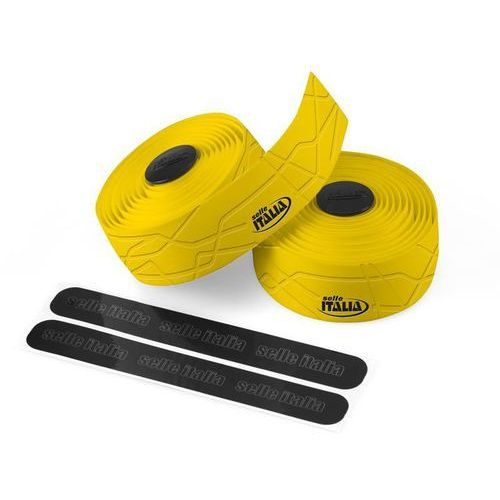 Owijka na kierownicę SELLE ITALIA GRAN FONDO gr.2,5mm żelowa żółta (8030282426450)