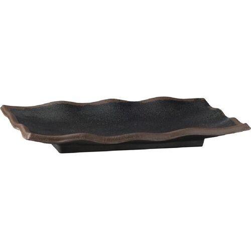 Aps Czarny melaminowy półmisek z falistą krawędzią marone 275x 110mm