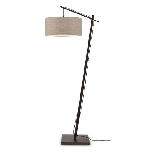 lampa podłogowa czarna andes 47x23 ciemny len andes/f/b/4723/ld marki Good&mojo