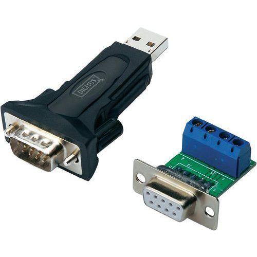 Przejściówka, adapter USB 2.0 Digitus DA-70157, [1x Złącze męskie RS485 - 1x Złącze męskie USB 2.0 A] (4016032307433)