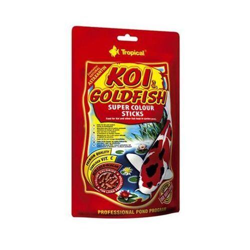 TROPICAL Koi & GoldFish Colour Sticks - pokarm wybarwiający w pałeczkach dla ryb stawowych worek 4kg