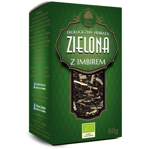 Herbata Zielona Cejlońska z Imbirem Liściasta BIO 80 g Dary Natury, 5902581617002