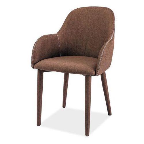 Krzesło Signal - OSCAR - tkanina - brązowy, kolor brązowy