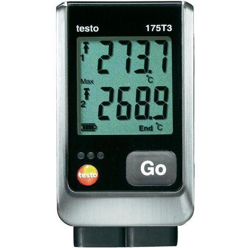 Rejestrator temperatury testo 175 T3 0572 1753 Kalibracja Fabryczna (bez certyfikatu) (4029547011108)