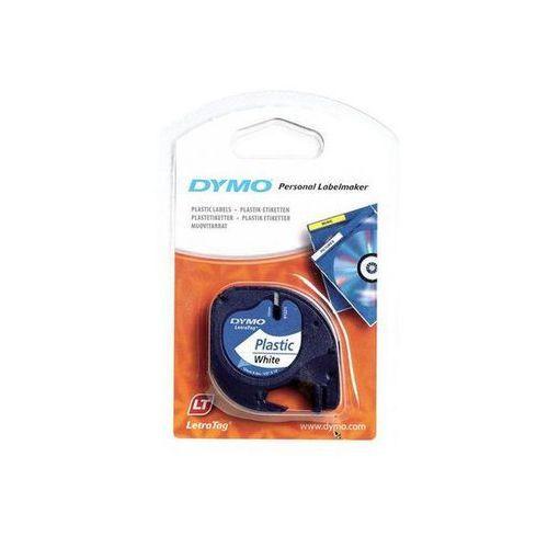 taśma do letra tag plastikowa 12mmx4m, biała marki Dymo