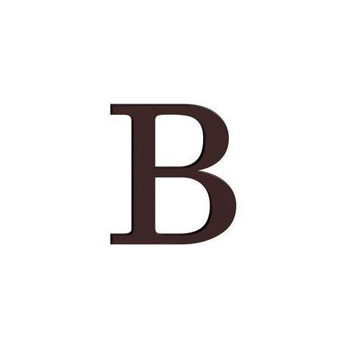Litera B wys. 9 cm PVC brązowa (5906711250183)