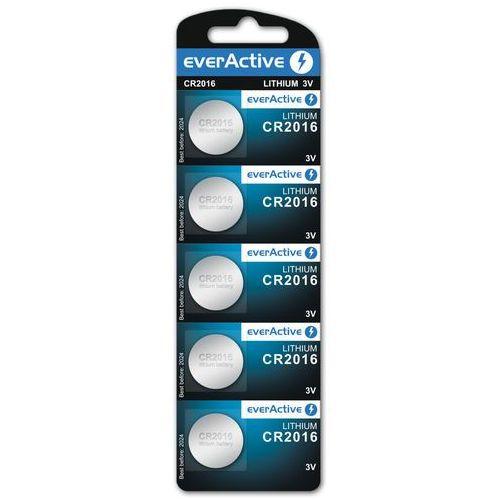 5x bateria litowa mini everActive CR2016, CR2016