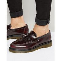 adrian tassel loafers in burgundy - red, Dr martens