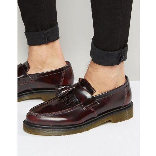 adrian tassel loafers in burgundy - red, Dr martens