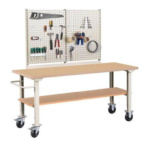 Aj produkty Mobilny stół roboczy robust, z wyposażeniem, 2000x800 mm, płyta hdf