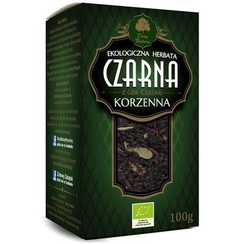 Herbata czarna cejlońska korzenna liściasta bio 100 g dary natury marki Dary natury - herbatki bio