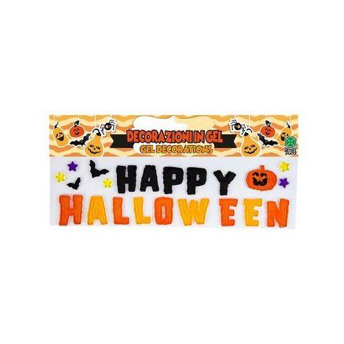 Dekoracja żelowa napis happy halloween - 1 szt. marki Carnival