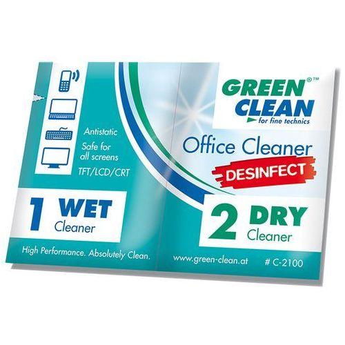 Green Clean zestaw ściereczek dezynfekujących mokra/sucha 100 szt. z kategorii Środki czyszczące