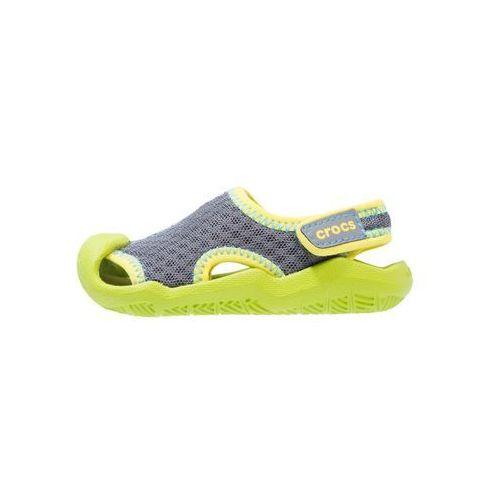 Crocs SWIFTWATER Sandały kąpielowe graphite/volt green (0887350861174)