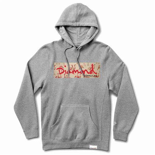 Bluza - flamingo box logo hoodie heather grey (htgr) rozmiar: 2x, Diamond