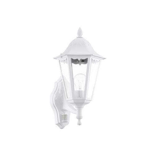 Zewnętrzna LAMPA ścienna NAVEDO 93447 Eglo klasyczna OPRAWA ogrodowa KINKIET z czujnikiem ruchu IP44 outdoor biały (9002759934477)