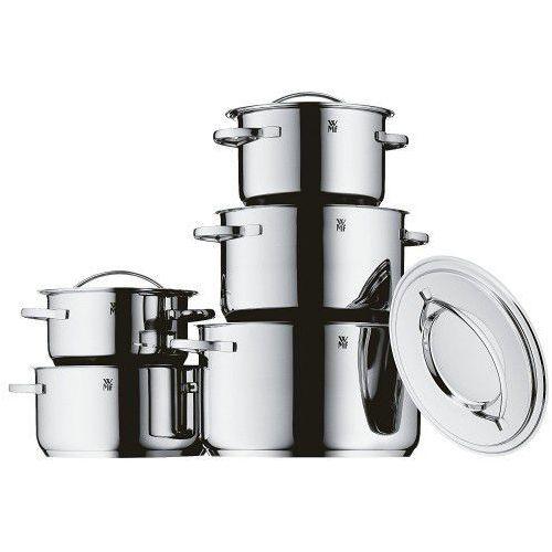 WMF Gala Plus 5-częściowy zestaw garnków, stal nierdzewna, nadaje się do kuchenek indukcyjnych i mycia w zmywarce, 0711056040