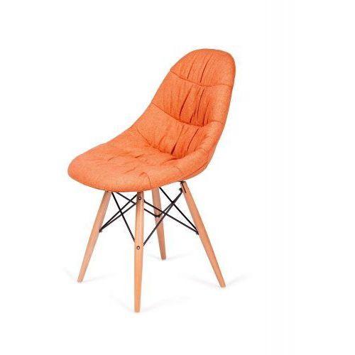 Krzesło nowoczesne rugo pomarańczowe tkanina marki King home