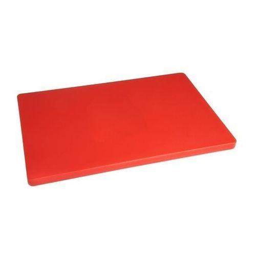Deska do krojenia   duża   duża grubość   niska gęstość   czerwona marki Hygiplas