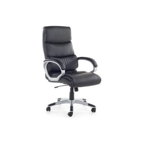 Beliani Krzesło biurowe czarne - fotel biurowy - obrotowy - siatka - skóra ekologiczna - king